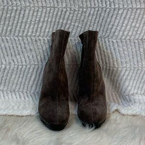 Grey suede Micheal Kors heels